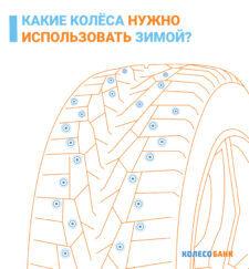 Какие колёса нужно использовать зимой?